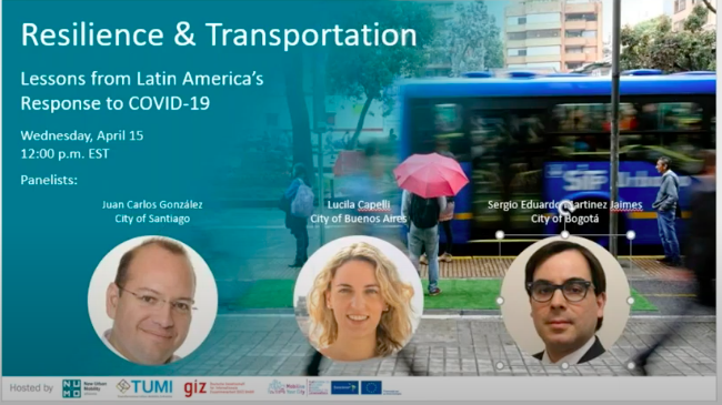 WEBINAR RESILIENCE AND TRANSPORT